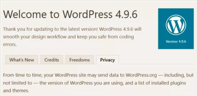 WordPress 4.9.6 RC1发布